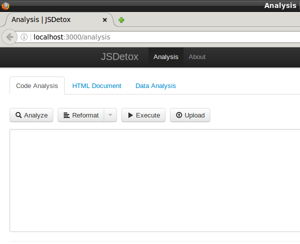 Fig. 3 JSDetox Dashboard