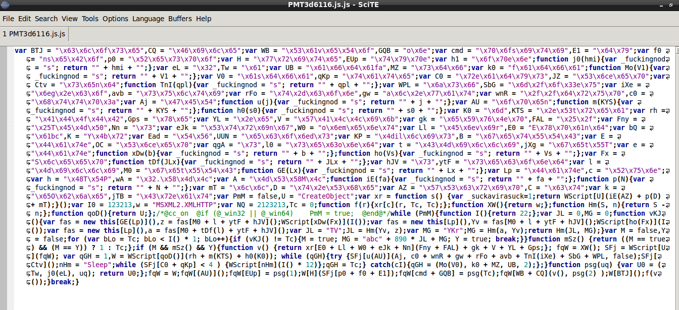 Fig. 1 raw javascript file
